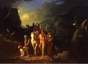 Daniel Boone Escorting Settlers through the Cumberland Gap (1851) by George Caleb Bingham